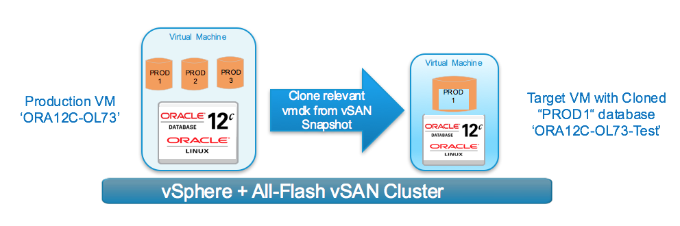 Clone Specific Database from a Production VM