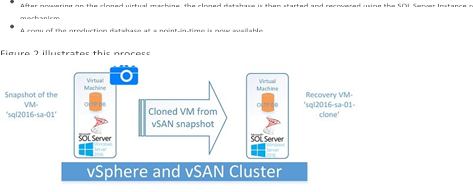 SQL Server Backup and Recovery using vSphere