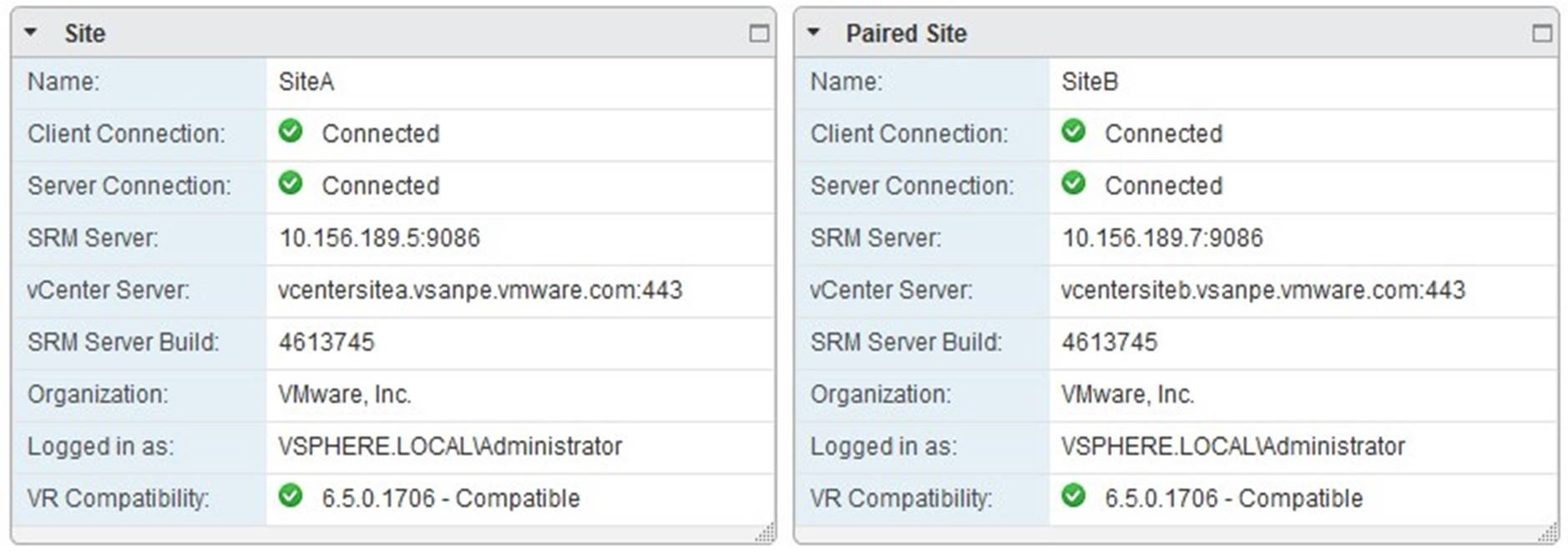 Paired Sites in vSphere Web Client