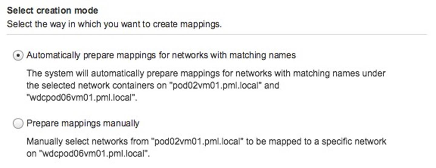 Network Mapping Configuration
